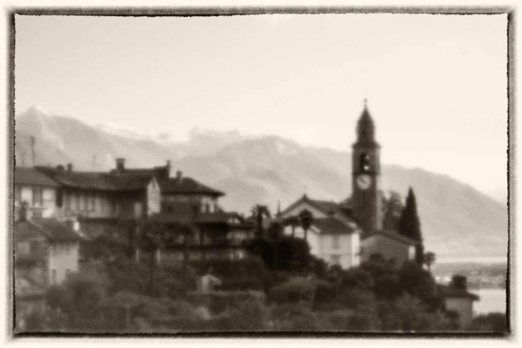 Ronco sopra Ascona mit der Lochkamera fotografiert