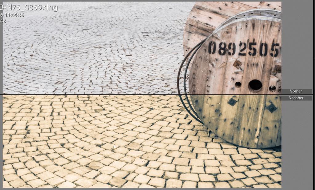 Sepia Effekt mit Lightroom Vergleich