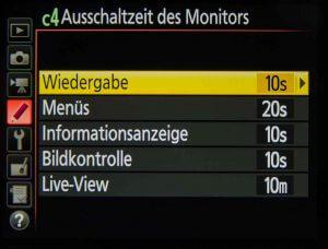 Ausschaltzeit Monitor und Co - Individualfunktionen