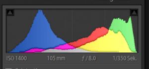 RGB-Histogramm Palmblatt