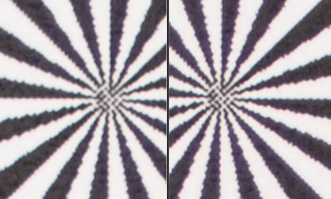 UV Filter links mit leichtem Kontrastverlust rechts ohne