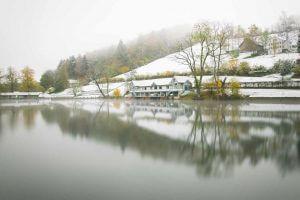 erster Wintereinbruch auf Dreiweihern St.Gallen