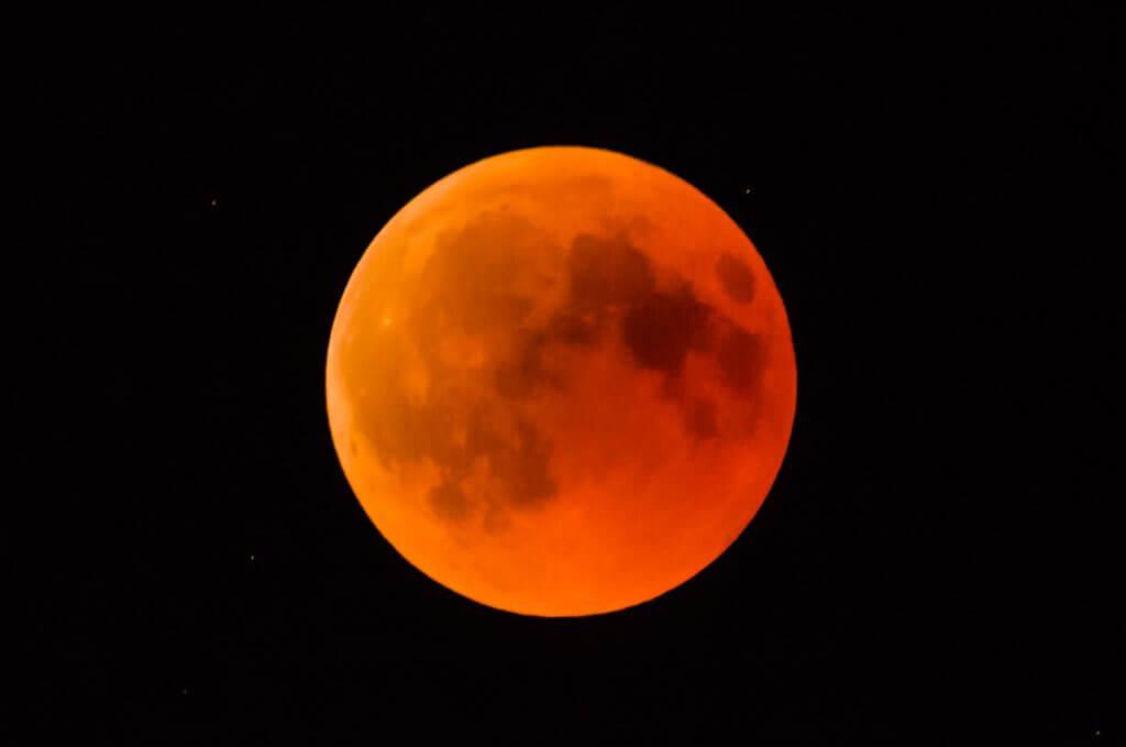 Mondfinsternis 27 Juli 2018 Ausschnittvergroesserung