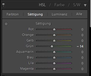 Softproof HSL-Farben korrigiert
