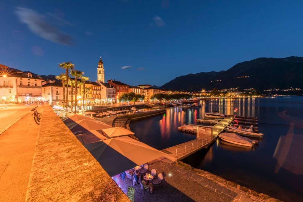 Ascona by night - die blaue Stunde