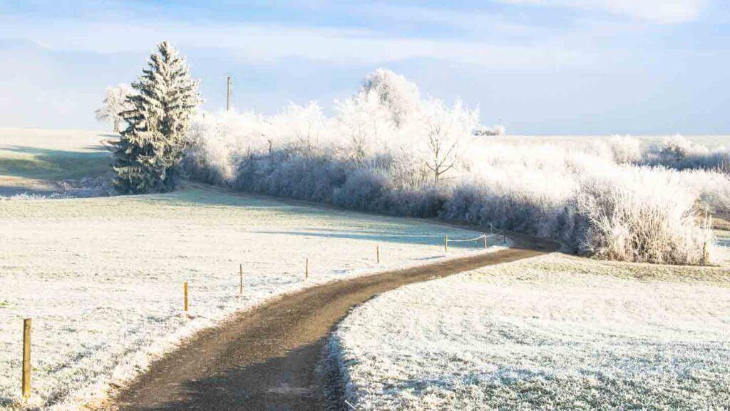 Brennweitenverlängerung Winterlandschaft