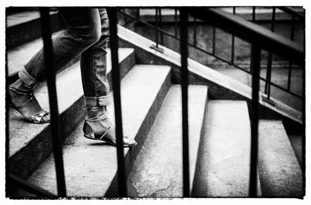 Streetfotografie Treppe in der Stadt