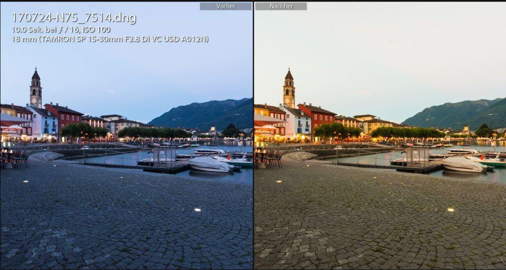 Bildvergleich Lightroom Farben optimieren