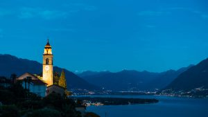 Ronco sopra Ascona am Lago Maggiore - Farben optimiert
