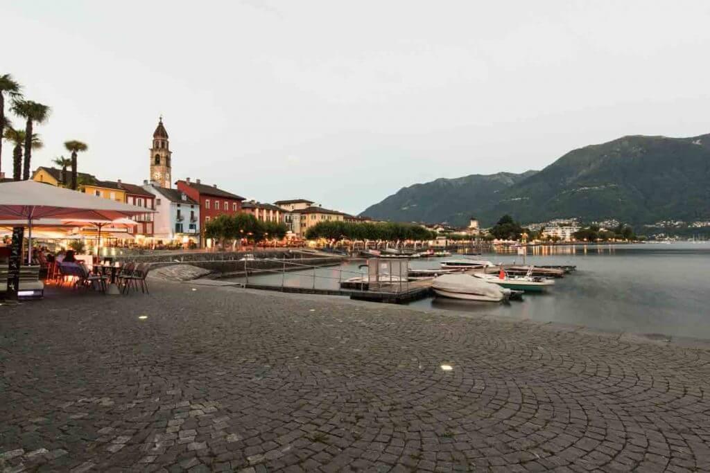 Seepromenade Ascona - Farbtemperatur korrigiert