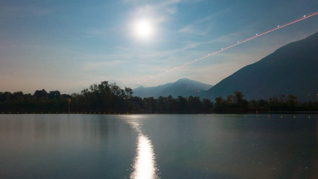 Vollmondnacht am Lago Maggiore