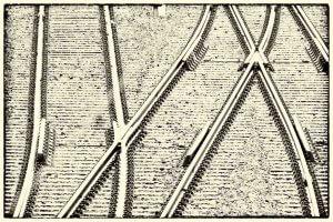 Technik als Motiv - Gleisanlage