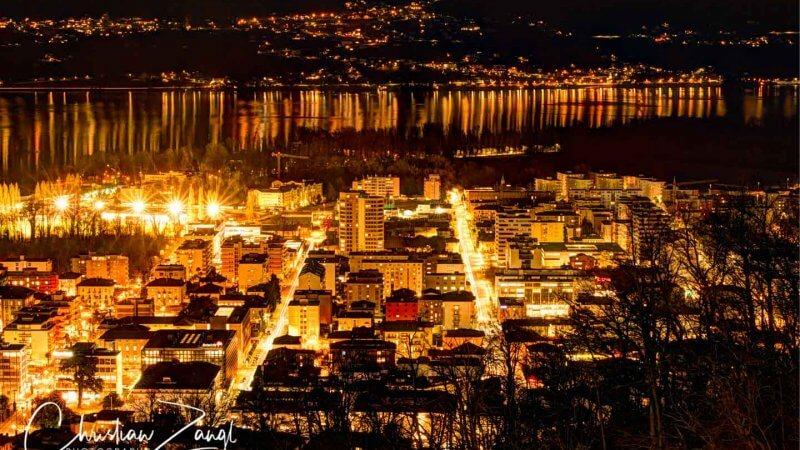 Nachtaufnahmen Locarno von Orselina aus