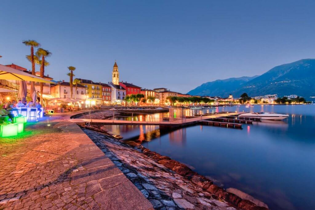 virtueller Horizont verwenden - Seepromenade Ascona
