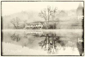 Nebelbild drei Weiern St Gallen