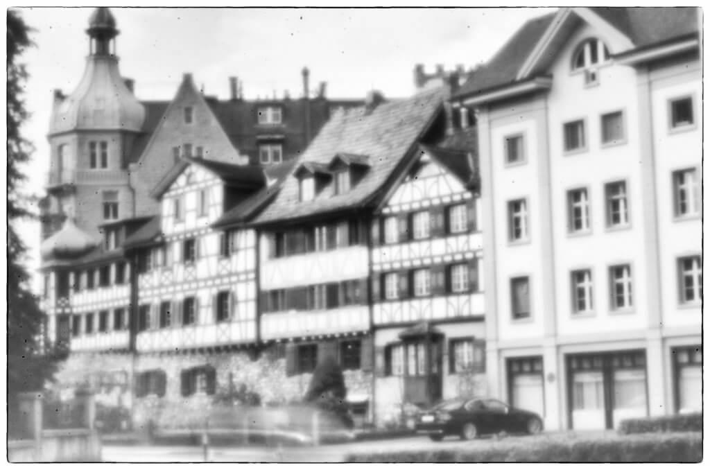 Altstadt von Arbon TG mit Lochkamera fotografiert