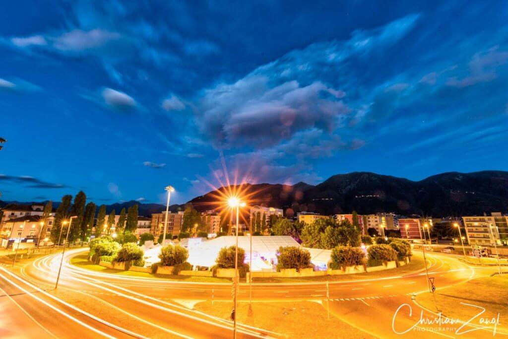 La Rotonda in Locarno zur Blauen Stunde