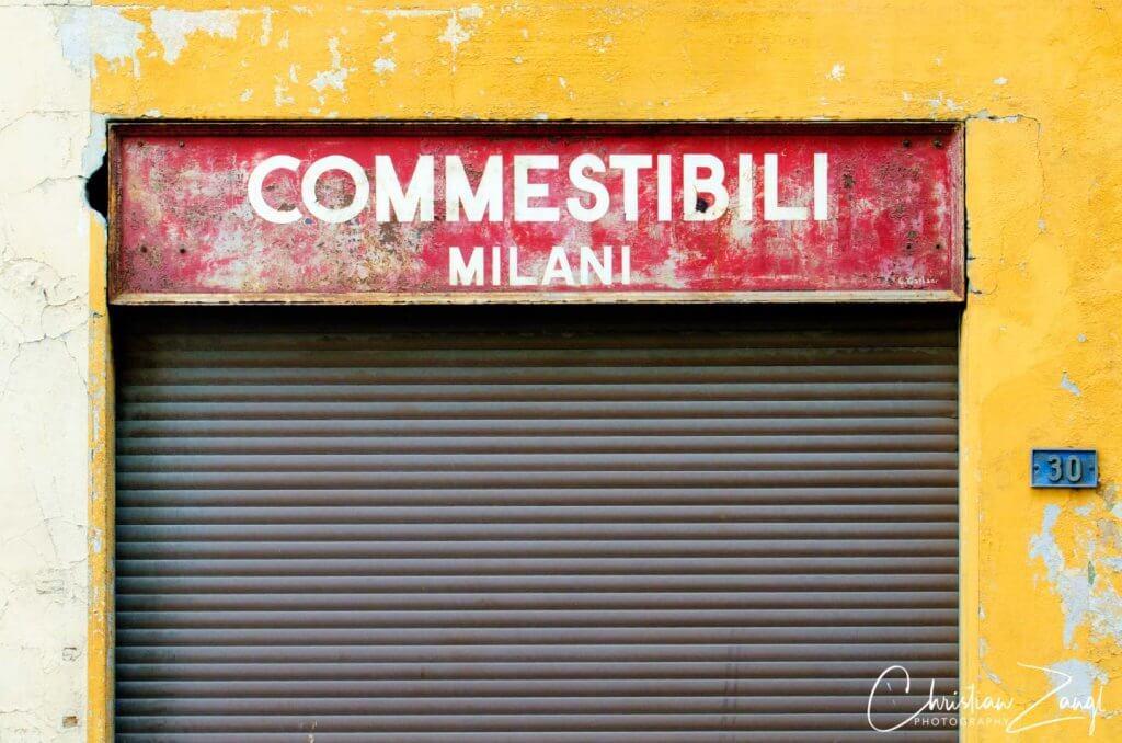 Laden in der Altstadt von Locarno