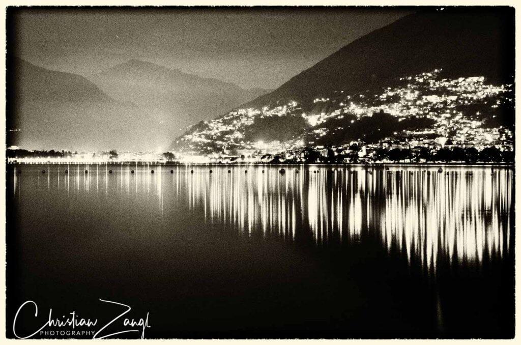Locarno und Muralto Retrofotografie