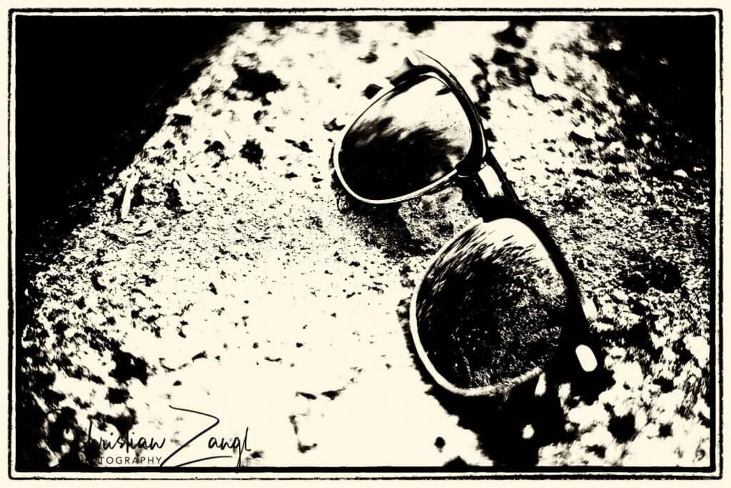 Vergessene Sonnenbrille - Retrofotografie