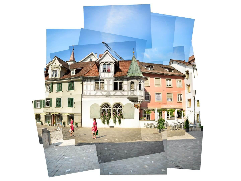 Panografie Altstadt St Gallen mit Vignette -20