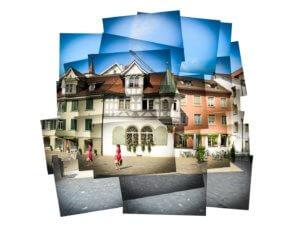 Panografie Altstadt St Gallen mit Vignette -38