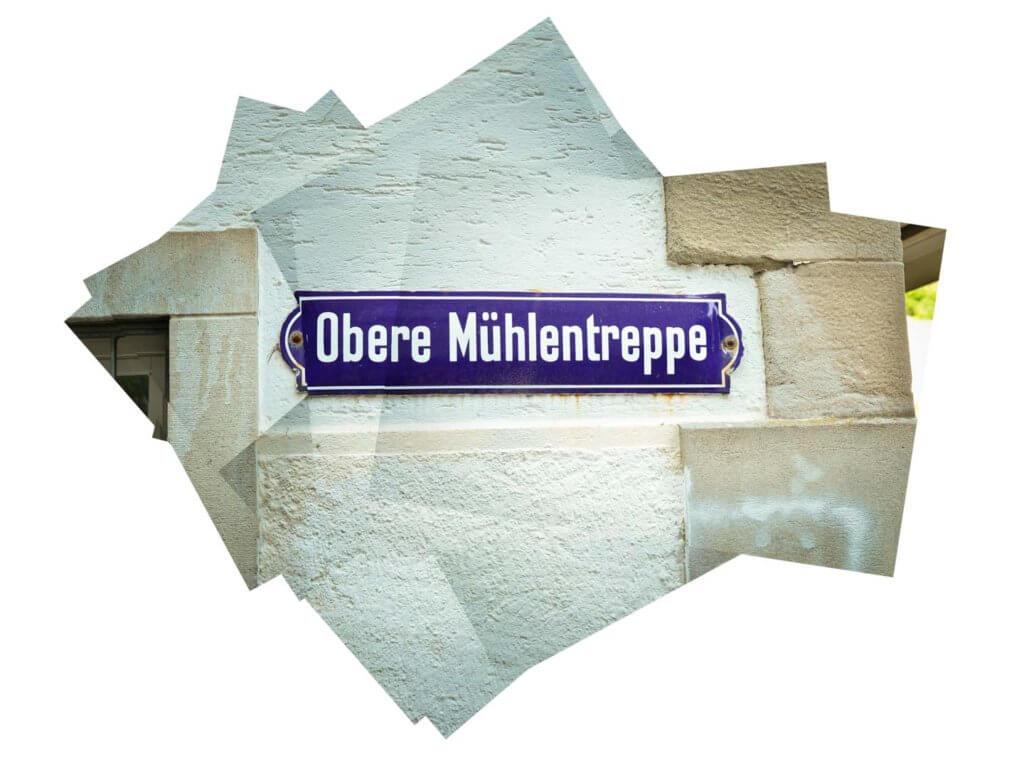 Strassenschild Mini-Panografie
