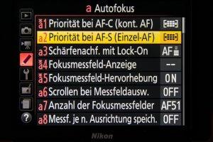 Fokusfalle einrichten - AF-S