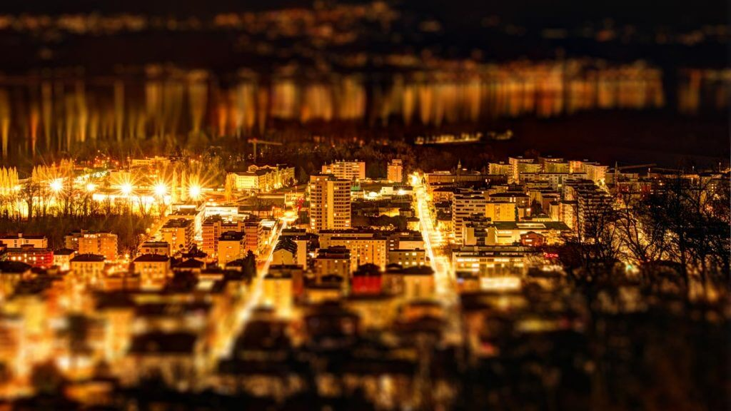 Tilt-Shift-Effekt Locarno by Night