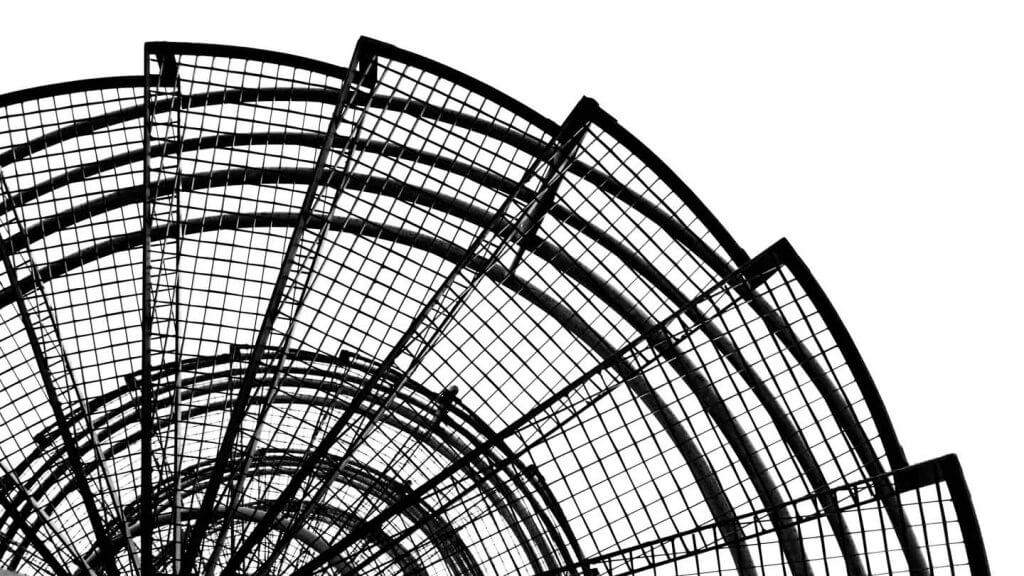 Abstrakte Architekturfotografie Notfalltreppe
