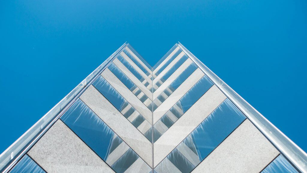 Abstrakte Architekturfotografie Spiegelfassade