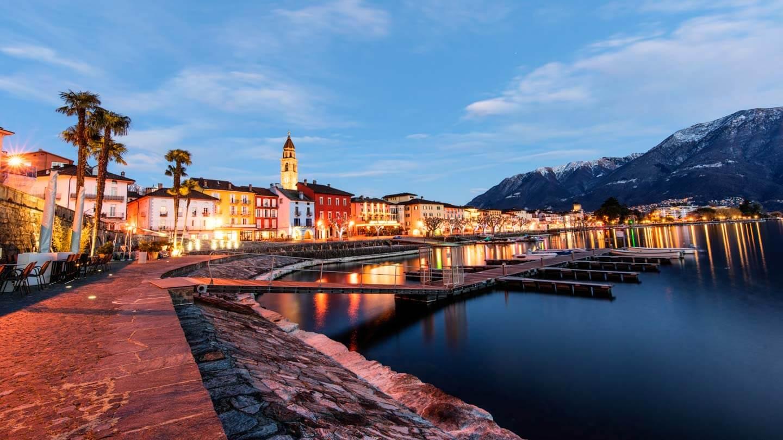 Ultra Weitwinkel Aufnahme von Ascona