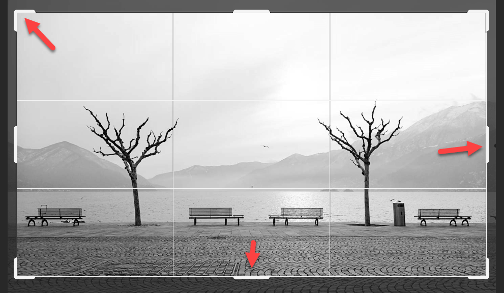 Bild zuschneiden in Adobe Photoshop Anfasser verschieben