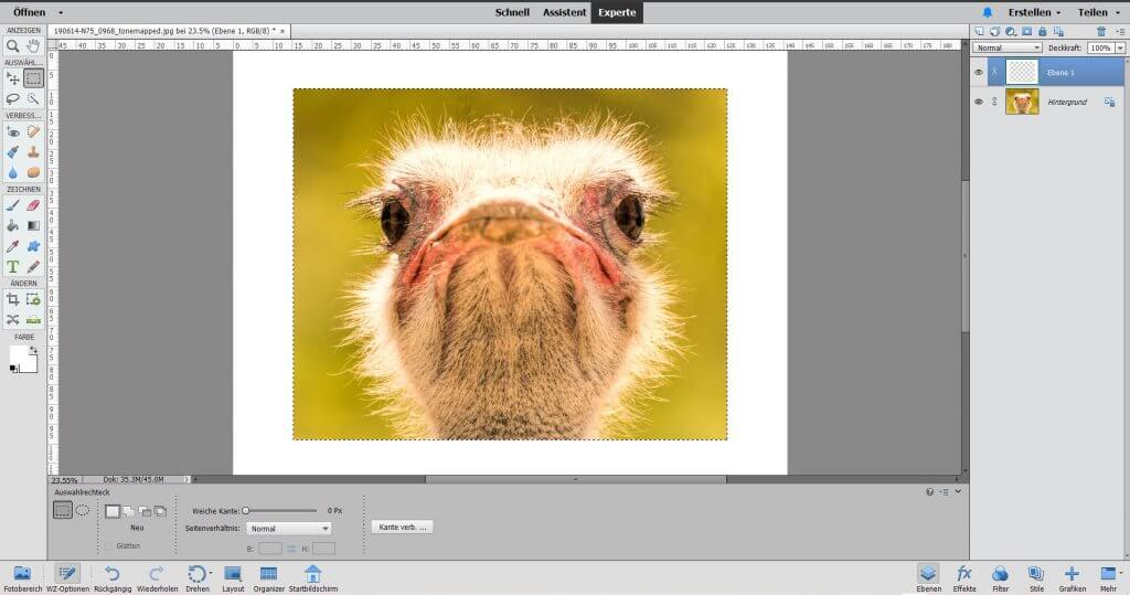 Rahmen erstellen in Photoshop Elements