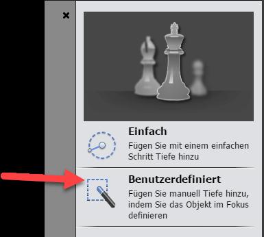 Tilt-Shift-Effekt in Photoshop Elements Benutzerdefiniert