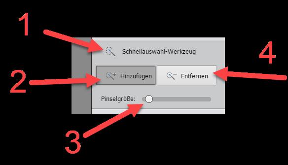 Tilt-Shift-Effekt in Photoshop Elements Schnellauswahlwerkzeug