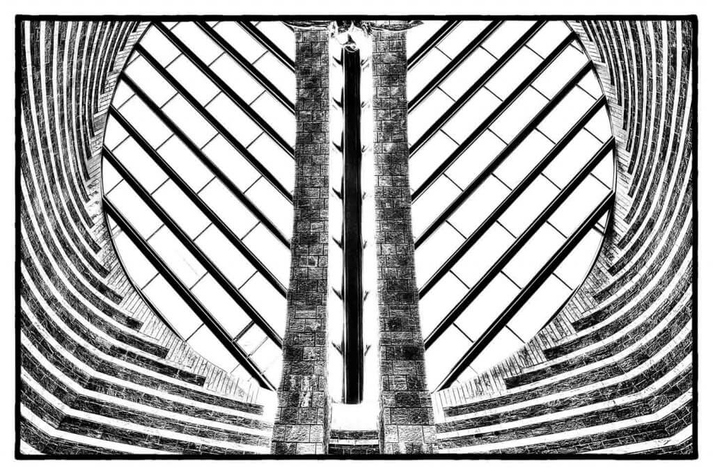Symmetrien - Kirche von Mario Botta in Mogno TI