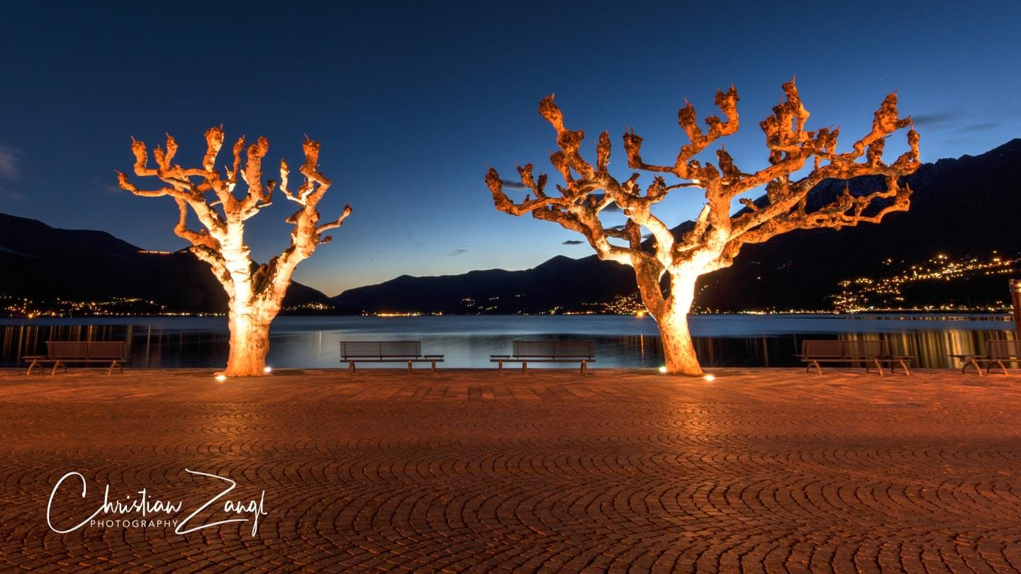 Piazza Ascona by night