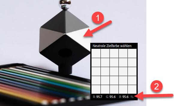 Weisses Dreieck kalibrieren SpyderCube